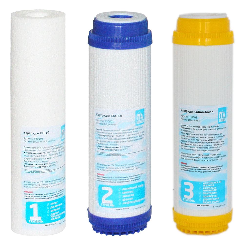 комплект картриджей для питьевой сисетмы ИТА Фильтр